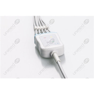 Unimed 5-lead One Piece Cable, SNAP, Medtronic-Physiocontrol