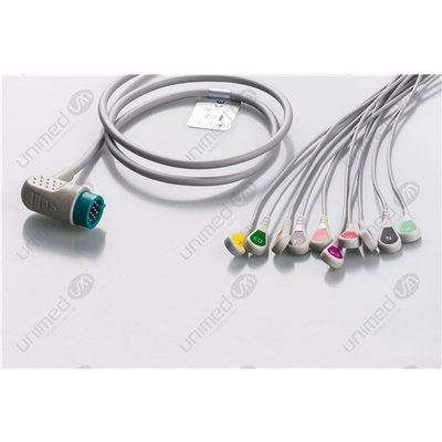Unimed 10-lead One Piece Cable, SNAP, Medtronic-Physiocontrol