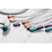 Unimed 10-lead One Piece Cable, GRABBER, Medtronic-Physiocontrol
