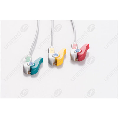 Unimed 3-lead  ECG Leadwires, GRABBER, Mindray