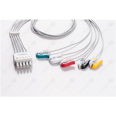 Unimed 5-lead ECG Leadwire, GRABBER, Mindray