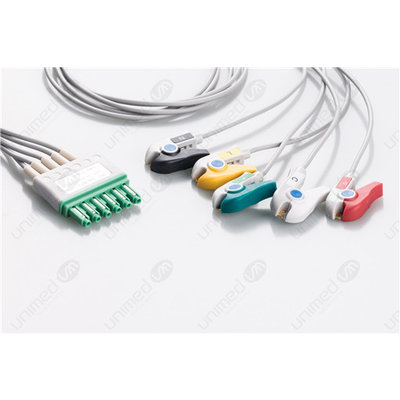 Unimed 5-lead ECG Leadwires, Integrated, GRABBER, Dräger