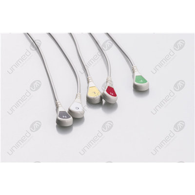 Unimed 5-lead  ECG Leadwires, SNAP, Mindray