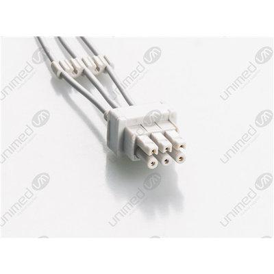 Unimed 3-lead ECG Leadwires, Individual, SNAP, GE Datex
