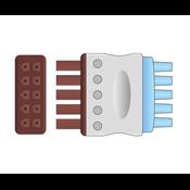 Unimed 5-lead ECG Leadwires, Individual, SNAP, GE Multilink
