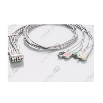 Unimed 5-lead ECG Leadwires, Individual, SNAP, GE Multilink