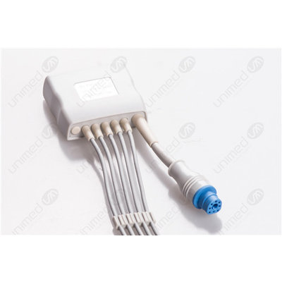 Unimed 6- lead ECG Telemetry Cable, GRABBER, Philips Medical
