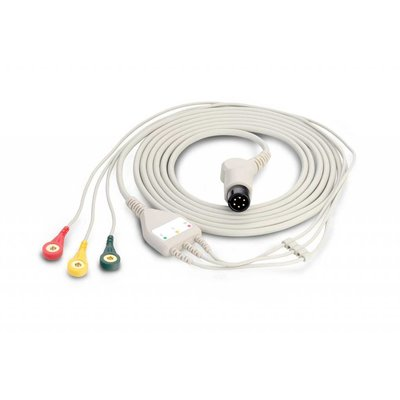 Edan Fixed ECG Cable with 3 leadwires
