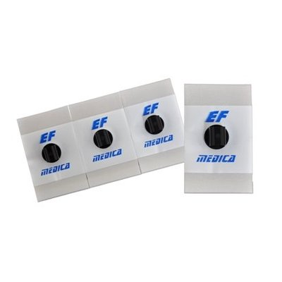 EF Medica Pregelled (Liquid) Foam Adhesive, 28x44mm, 4mm adapter,30Pc/Pck