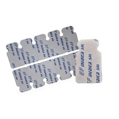 EF Medica Disposable Pregelled (Solid) Tab electrodes, RT 24, 100Pc/Pck