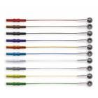 EF Medica ECG Disc Electrodes, 250cm LW,Safety Din, 10Pc/Pck