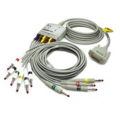 Edan ECG Trunk Cable with lead wires (KIT), (ф4mm, banana connector, IEC)