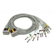 Edan ECG Leadwires, (ф4mm, banana connector, IEC)