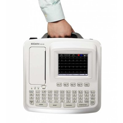 Edan SE-601 C Electrocardiograph, 6 channel ECG, with Touch Screen