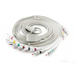 Edan ECG Cable, (ф4mm, banana connector, IEC), Integrated Cable