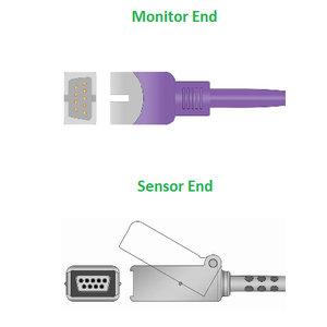 Unimed SpO2,U701-01X, Nellcor/Coviden, Nellcor non-Oximax , 0.3m, Oximax adapter