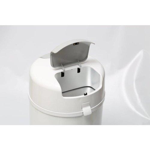 Bubula Wit - Bubula Luieremmer met unieke 2 stap systeem, werkt met reguliere vuilniszakken