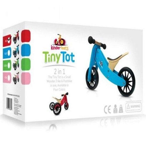 Kinderfeets Wooden Balance Bike Tiny Tot - Blue - Trike