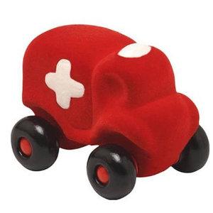 Rubbabu Kleine Speelgoedauto Hopkins Ambulance - 12cm - Rood