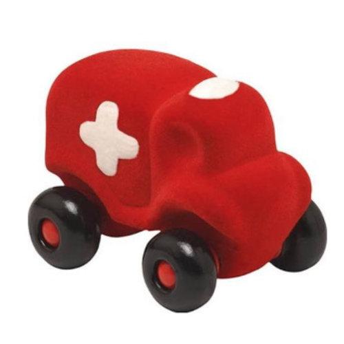 Rubbabu Little Toycar Hopkins Ambulance - 12cm - Red