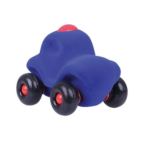 Rubbabu Little Toycar Police - 11cm - Blue