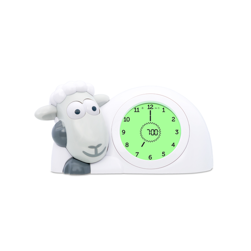 Zazu Sam Sleeptrainer Grey - Sheep Childrens clock