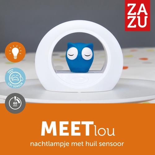 Zazu Lou Nachtlamp Blauw - Uil - met Huilsensor!