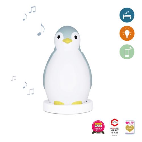 Zazu Pam Slaaptrainer Blauw - Pinguïn met Bluetooth
