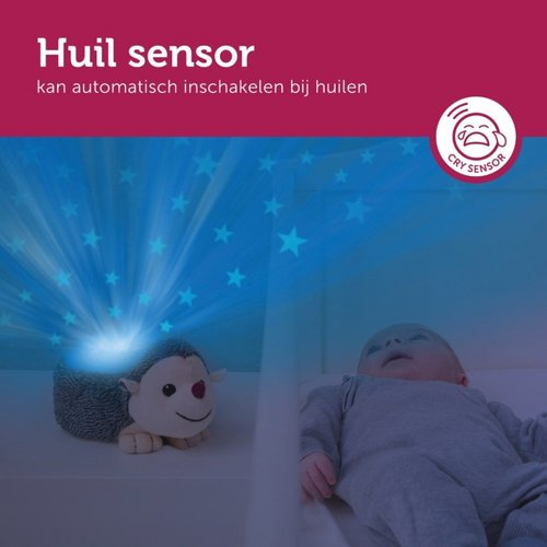 Zazu Harry Sterrenprojector - Egel met Huilsensor!