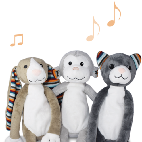 Online music cuddly toys