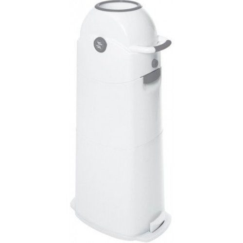 DiaperChamp Diaperpail Medium Classic - Grey / White