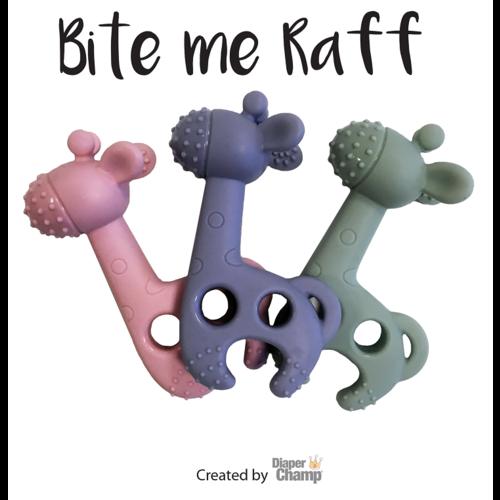 Bite Me Raff Bite Me Raff - Het leukste Giraffen Bijtspeeltje in Blauw/Grijs