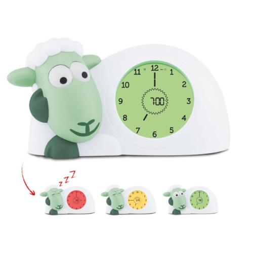 Zazu Sam Sleeptrainer - Mint - Sheep Childrens clock