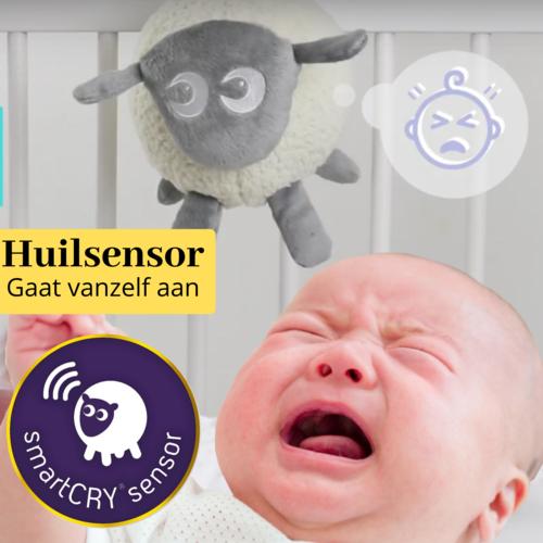 Easidream Ewan the Dreamsheep Purple - Heartbeat Cuddletoy with sensor - Deluxe