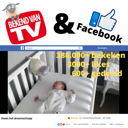Easidream Ewan het Droomschaap Paars - Hartslagknuffel - Classic
