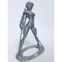 thumb-PLA Rapunzel Silver / Zilver, 1.75 / 2.85 mm, 750 gram (0.75 KG)-3