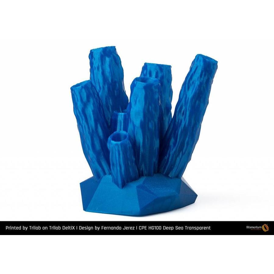 CPE HG100 Gloss BLUE, Deep Sea Transparant, sterk verbeterd PETG filament-2