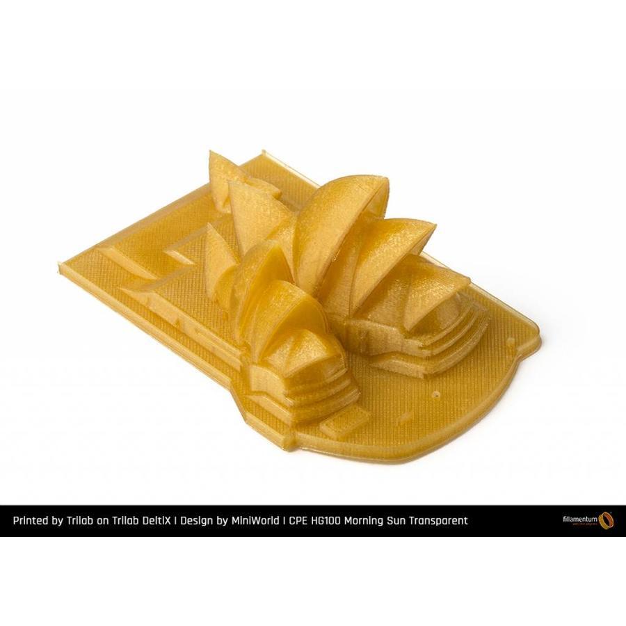 CPE HG100 Gloss, Morning Sun Transparant, sterk verbeterd PETG filament-2