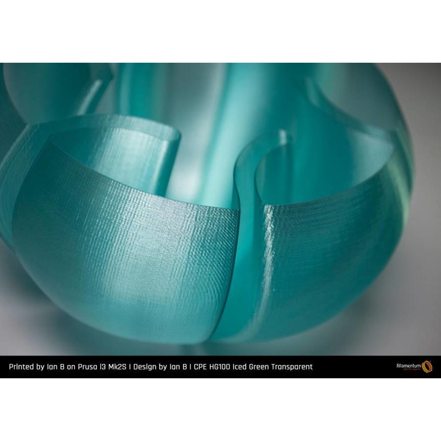 CPE (copolyester) HG100 Gloss, Iced Green Transparent, enhanced PETG filament-2