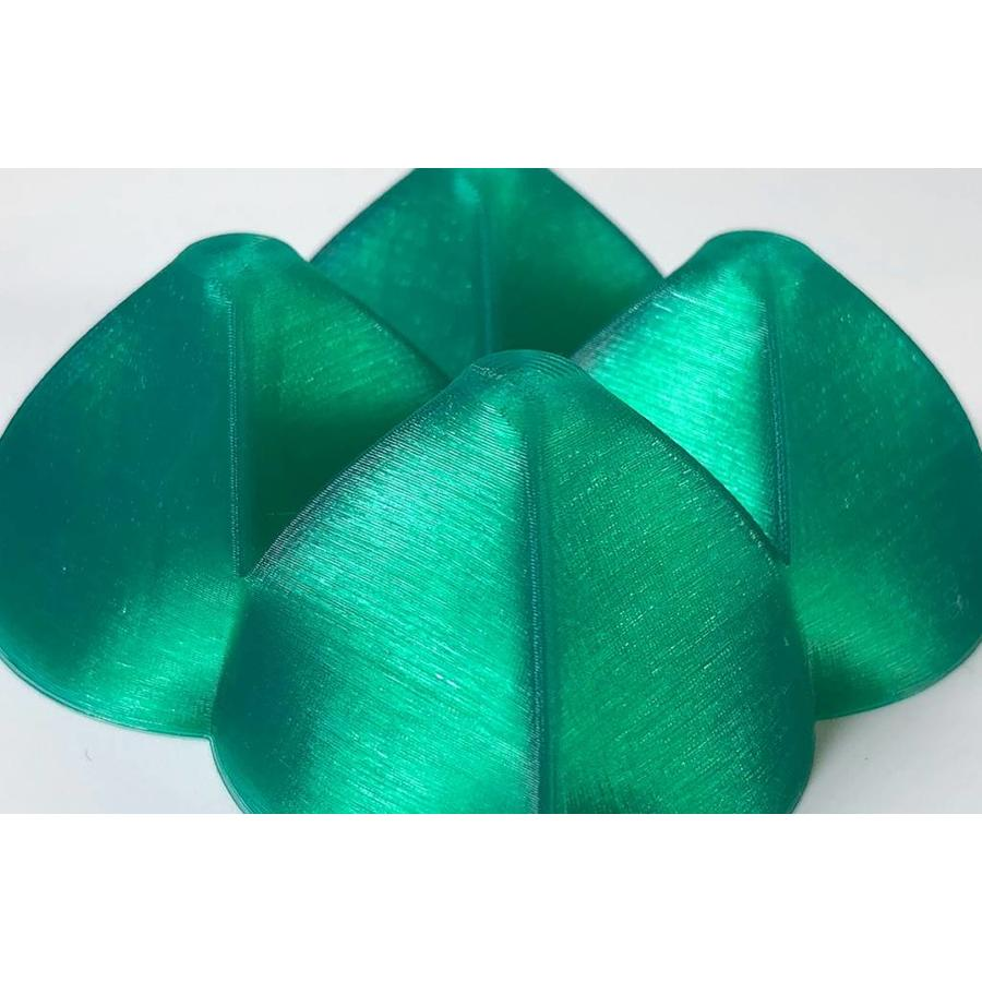 "PLA Crystal Clear-""Smaragd Green"", 1.75 / 2.85 mm, 750 grams (0.75 KG)-4"