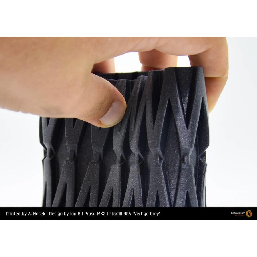 Flexfill 98A Vertigo Grey: semi-flexibel 3D filament, 500 grams-5