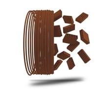 thumb-Heritage Brick 3D filament, baksteen filament, 750 gram (0.75 KG)-1