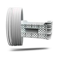 thumb-P-LENE4, Polypropylene filament, RAL9003-Signal White, 750 grams (0.75 KG)-1