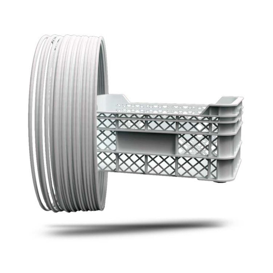 P-LENE4, Polypropylene filament, RAL9003-Signal White, 750 grams (0.75 KG)-1