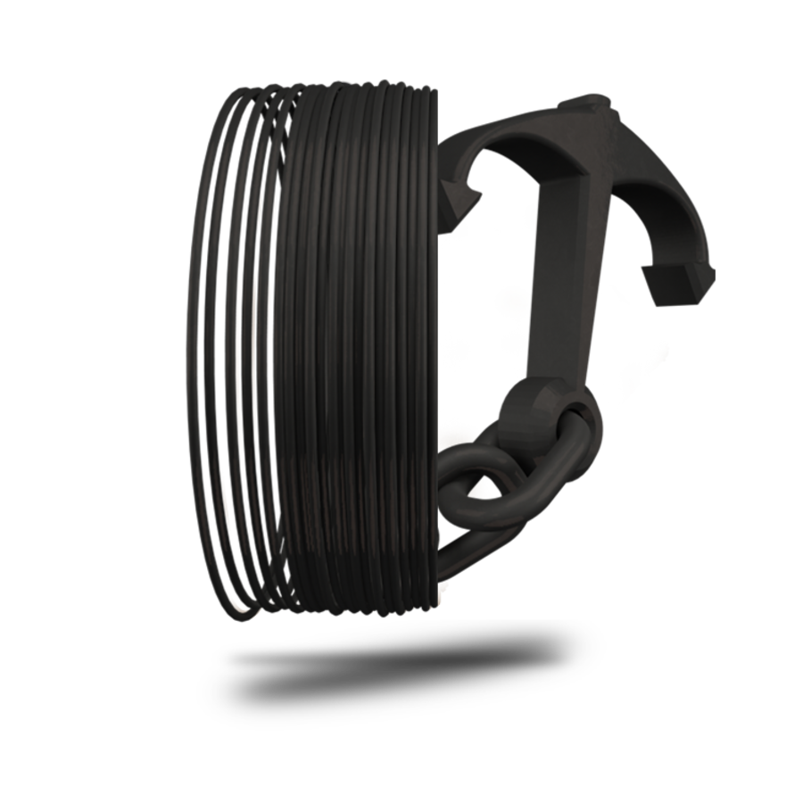 Longchain Nylon PA12, RAL 9005 - Black Hole - professioneel filament, 500 gram (0.5 KG)-1
