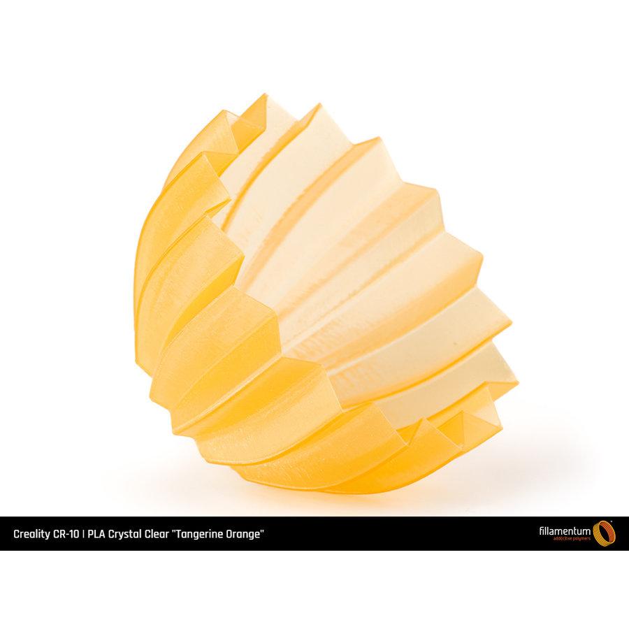 """PLA Crystal Clear-""""Tangerine Orange"""", 1.75 / 2.85 mm, 750 gram (0.75 KG)-4"""