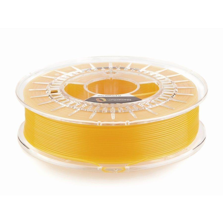 """PLA Crystal Clear-""""Tangerine Orange"""", 1.75 / 2.85 mm, 750 gram (0.75 KG)-1"""