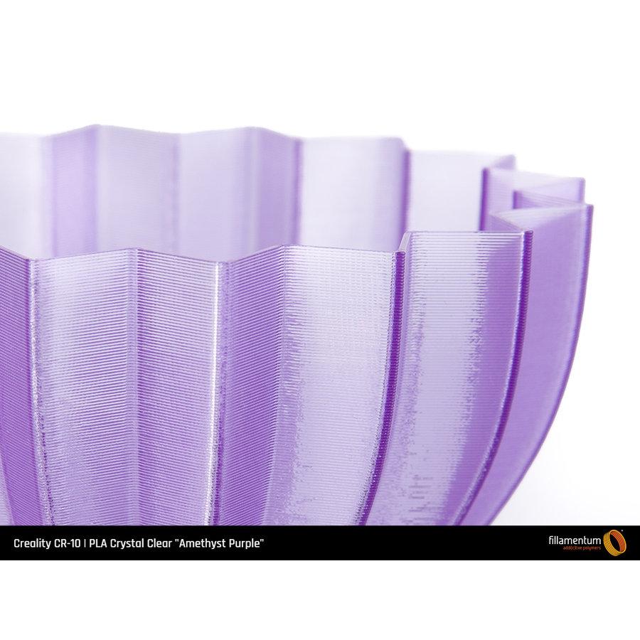 """PLA Crystal Clear-""""Amethyst Purple"""", 1.75 / 2.85 mm, 750 gram (0.75 KG)-3"""