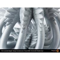thumb-PLA Metallic Grey, RAL 7045, 750 grams 3D filament-3