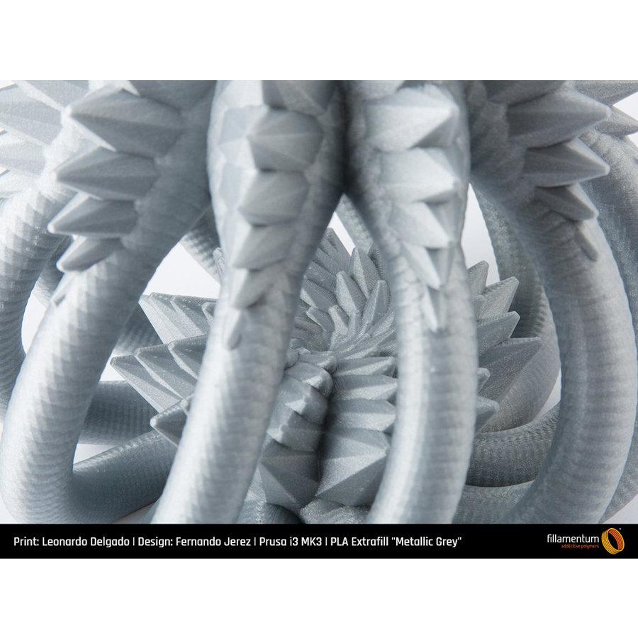 PLA Metallic Grey, RAL 7045, 750 grams 3D filament-3